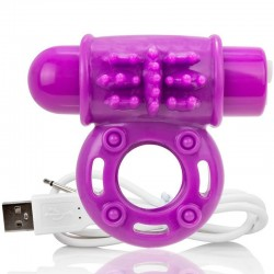 SCREAMING O BAGUE RECHARGEABLE VIBRANTE O WOW VIOLET