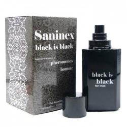 SANINEX BLACK IS BLACK SCENT POUR HOMME AVEC PHÉROMONES