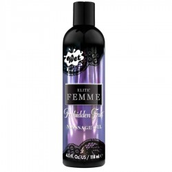 HUILE DE MASSAGE WET ELITE FEMME ET BA OU FRUIT INTERDIT 120 ML