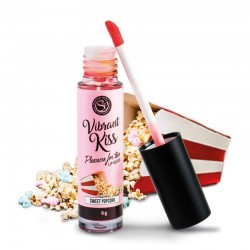 SECRETPLAY LIP GLOSS VIBRANT KISS SWEET POPCORN