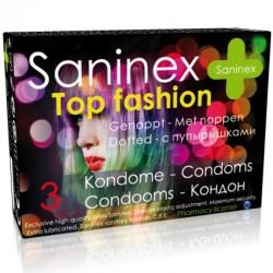 SANINEX CONDOMS TOP FASHION DOTTED 3 UNITÉS