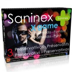SANINEX X GAME SAVEUR DE PRESERVATIFS A POIS 3 UNITÉS