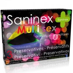 CONDOMS SANINEX PRÉSERVATIFS MULTISEX 3 UNITÉS