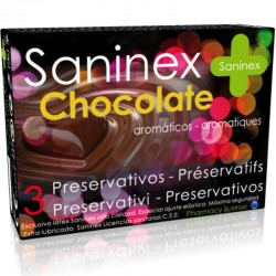 CONDOMS SANINEX CHOCOLAT AROM TIC 3 UNITÉS