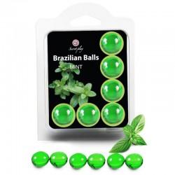 SECRETPLAY SET 6 BALLES BRÉSILIENNES MENTHE