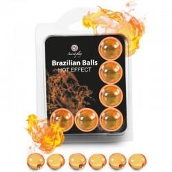 SECRETPLAY SET 6 BALLES BRÉSILIENNES EFFET CHALEUR