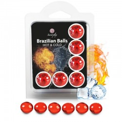 SECRETPLAY SET 6 BALLES BRÉSILIENNES EFFET CHAUD ET FROID