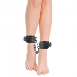 DARKNESS LEATHER WRIST ANKLE RESTRAINTS BLACK