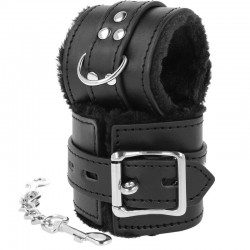 DARK NESS LOVE CUFFS, WRIST WITH FUR BLACK