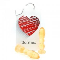SANINEX DELIGHT PLUG-DILDO ORANGE TRANSPARENT