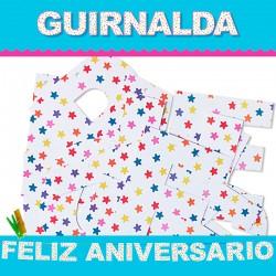 GUIRLANDE HAPPY ANNIVERSARY (Carton 220gr)