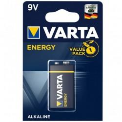 BATTERIE VARTA ENERGY 9V LR61 1 UNITÉ