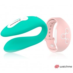 WEARWATCH DUAL PLEASURE WIRELESS TECHNOLOGY WATCHME LIGHT AQUAMARINE / CORAL