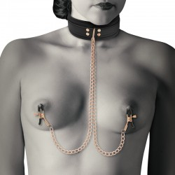 COQUETTE FANTASY COLLAR WITH NIPPLES CLAMPS