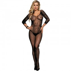 QUEEN LINGERIE OPEN CROTHLESS MANCHES LONGUES BODYSTOCKING SL