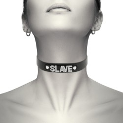 COQUETTE HAND CRAFTED CHOKER VEGAN LEATHER - SLAVE