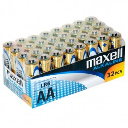 PACK MAXELL PILE ALCALINA AA LR6 * 32 UDS