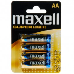 MAXELL SUPER ALCALINE AA LR6 4UDS