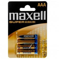 MAXELL SUPER ALCALINE AAA LR03 4UDS