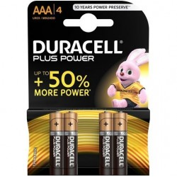 PILE ALCALINE DURACELL PLUS POWER AAA LR03 BLISTER * 4