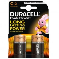 PILE ALCALINE DURACELL PLUS POWER C LR14 BLISTER * 2