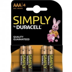 PILE DURACELL SIMPLY ALCALINE AAA LR03 / MN2400 4UD