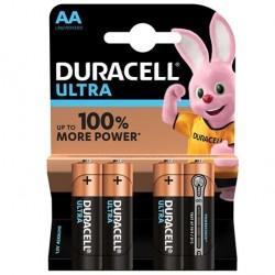 PILE ALCALINE DURACELL ULTRA POWER AA LR6 BLISTER * 4