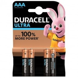 PILE ALCALINE DURACELL ULTRA POWER AAA LR03 BLISTER * 4