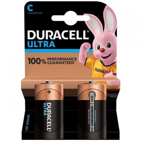 PILE ALCALINE DURACELL ULTRA POWER C LR14 BLISTER * 2