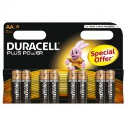 PILE ALCALINE DURACELL PLUS POWER AA LR6 BLISTER * 8