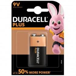PILE ALCALINE DURACELL PLUS POWER 9V LR61 BLISTER * 1