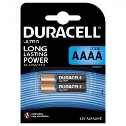 PILE ALCALINE DURACELL ULTRA POWER AAAA MX2500 1,5 V BLISTER * 2