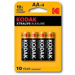 PILE ALCALINE KODAK XTRALIFE AA LR6 * 4