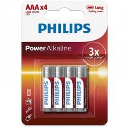PILE ALCALINE PHILIPS POWER AAA LR03 BLISTER * 4