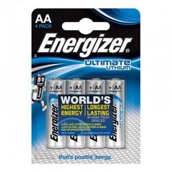 ENERGIZER ULTIMATE LITHIUM LITHIUM BATTERY AA L91 LR6 1,5V BLISTER * 4