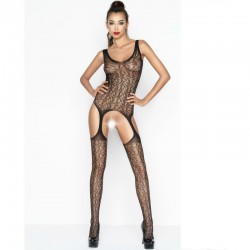 PASSION WOMAN BS043 BODYSTOCKING NOIR TAILLE UNIQUE