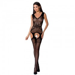 PASSION WOMAN BS062 BODYSTOCKING NOIR TAILLE UNIQUE