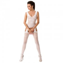 BODYSTOCKING PASSION WOMAN BS046 - BLANC TAILLE UNIQUE