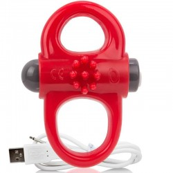 SCREAMING O BAGUE RECHARGEABLE ET VIBRANTE YOGA ROUGE