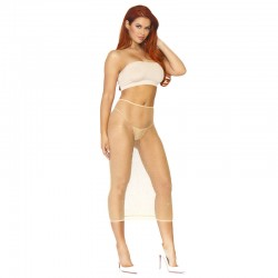 ROBE TUBE CONVERTIBLE LEG AVENUE BEIGE TU